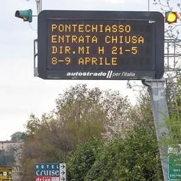 Autostrada, ancora chiusure di sera  Code e caos per altri cinque mesi