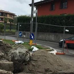 Via Daverio chiusa per lavori  Attenzione al traffico a Cantù