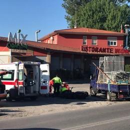 Incidente sulla Provinciale 24  Un ferito a Lurate Caccivio