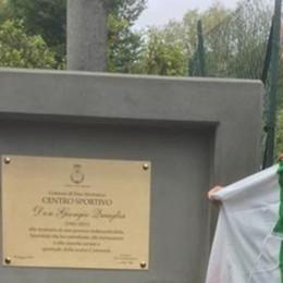 Andrate non dimentica don Giorgio  Il centro sportivo porta il suo nome
