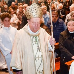 I 50 anni di Sant'Agata  con il vescovo Cantoni  «Luogo di familiarità»