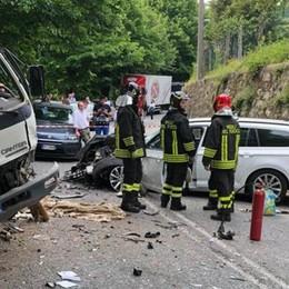 Scontro tra auto e moto  Anche un bimbo tra i feriti