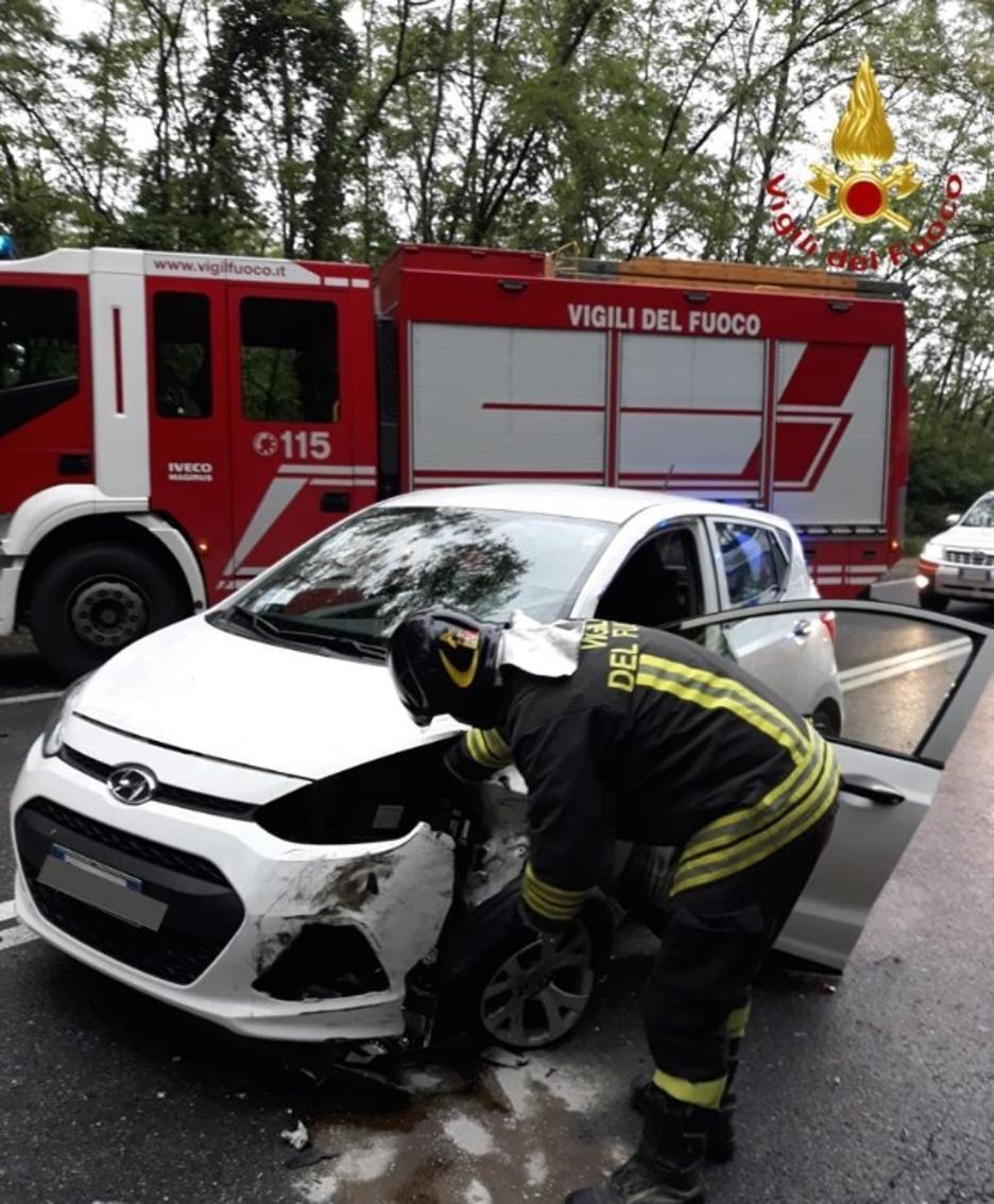 L'altra auto coinvolta nell'incidente