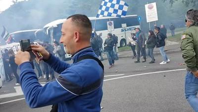 Calcio Como, la festa dei tifosi allo stadio