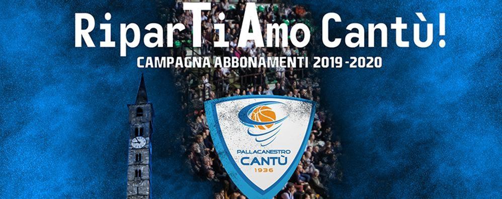 """Ecco """"RiparTiAmo Cantù!"""" La campagna abbonamenti"""