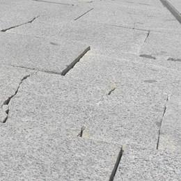A Cantù la piazza mai finita  Da sistemare pure l'area pedonale