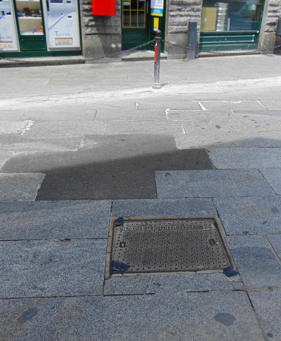 I rattoppi in asfalto sulla parte carrabile
