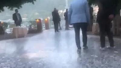 Cernobbio arrivo Obama e Clooney