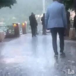 L'arrivo a Villa d'Este di Obama e Clooney