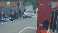 Scontro tra auto e scooter  Un ferito a Casnate