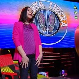 Una ragazza di Cucciago   in tv con  Gerry Scotti