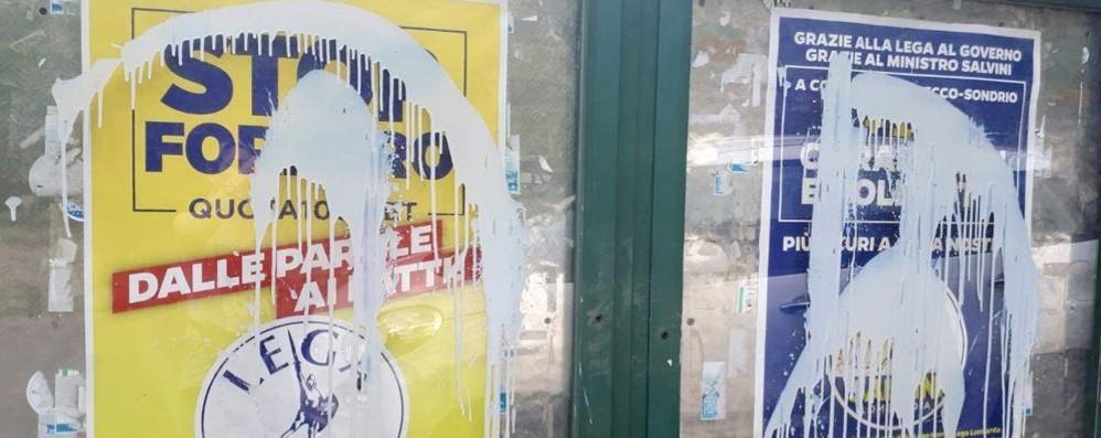 Erba, vernice sulla sede della Lega  «Azione degna di vigliacchi»