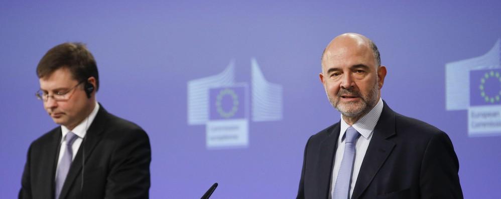 Dombrovskis-Moscovici aggiornano colleghi su Italia