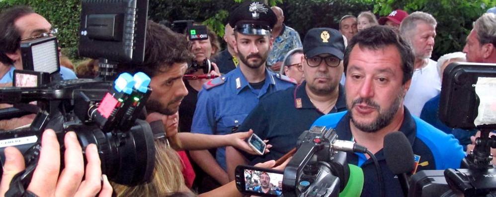 Matteo Salvini a Cantù  alla festa della Lega