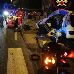 Incidente a Fino Mornasco  Tre feriti, grave una donna