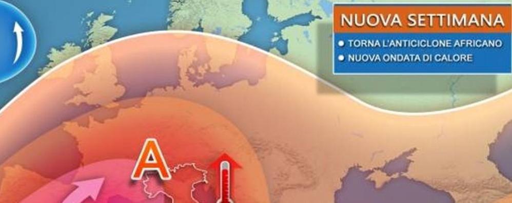 Meteo, torna l'anticiclone subtropicale  Da mercoledì sul Lario  35-36°