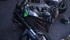 Scontro auto-moto  Due persone ferite