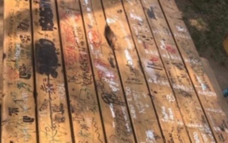 Residente pulisce il parchetto  I vandali lo imbrattano subito