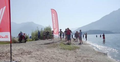 Il record di velocità in moto sul lago