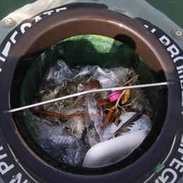 Un cestino spazzino nel lago  Lifegate scrive al Comune