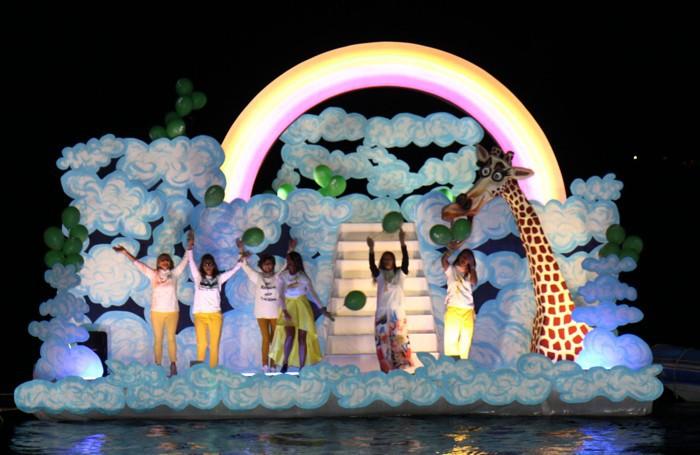 Gravedona:sfilata barche allegoriche