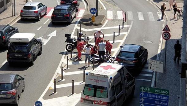 Incidente in Viale Masia  Ferito motociclista di 18 anni