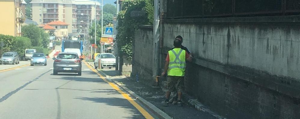 Riapre il cantiere sulla Varesina  Allarme traffico a Villa Guardia