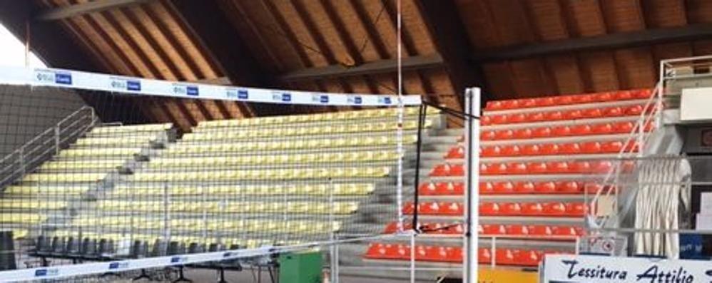 Ecco il Palasampietro pronto per la pallavolo