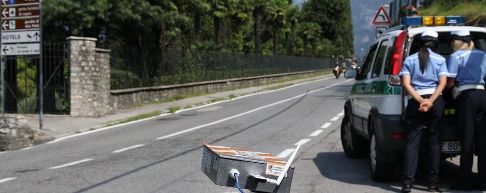 Si corre troppo a Bellagio Arriva l'autovelox