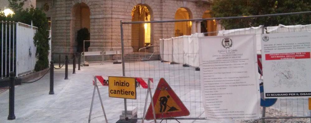 Cantù, piazza Garibaldi, lavori quasi finiti  «Poi va definito il piano del traffico»