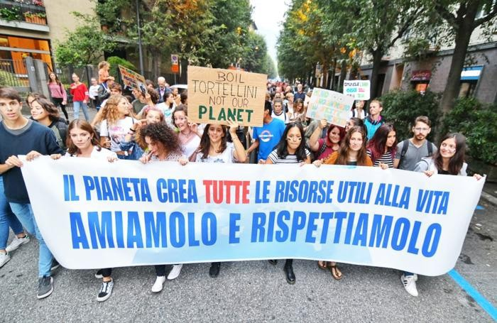 Como sciopero per il clima, manifestazione cittadina