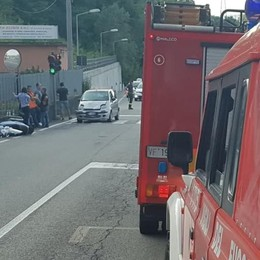 Ciclista urtato da camion  Gravissimo a Casnate