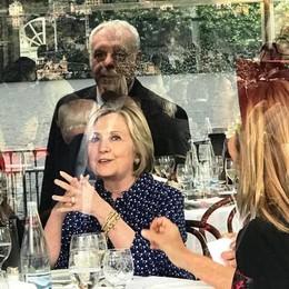 Hillary Clinton all'Ambrosetti  «Lago di Como incantevole»