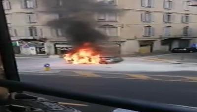 Incendio auto San Rocco