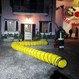 Rogo in cucina Vigili del fuoco a Cadorago