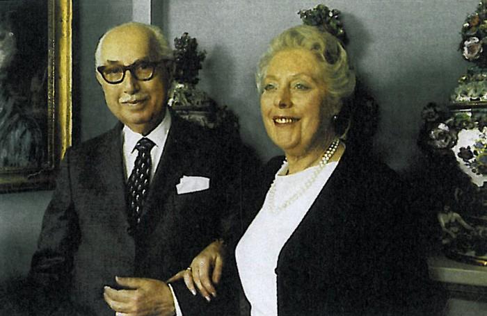 Emilio Vitali con la mogile Nella nel giorno del cinquantesimo anniversario delle nozze