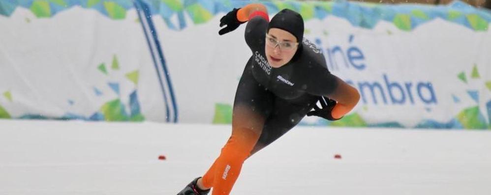 Bianchi veloce anche sul ghiaccio Terza ai Campionati italiani Sprint