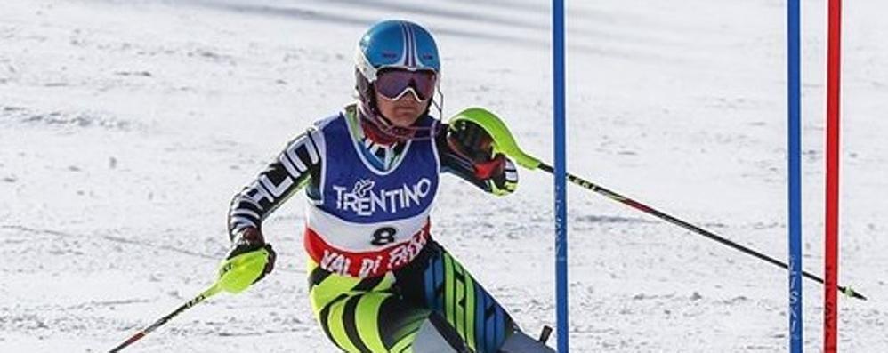 Dottoressa sul podio  Lorini seconda in slalom