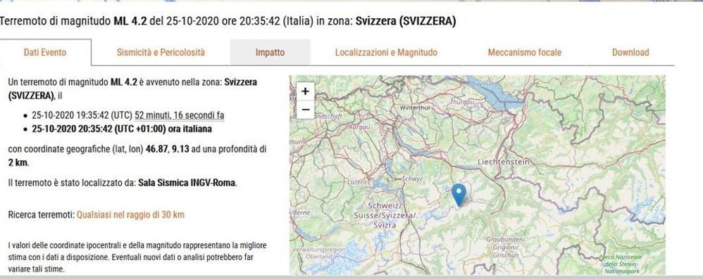 Terremoto in Svizzera  La scossa avvertita  anche nell'Alto Comasco