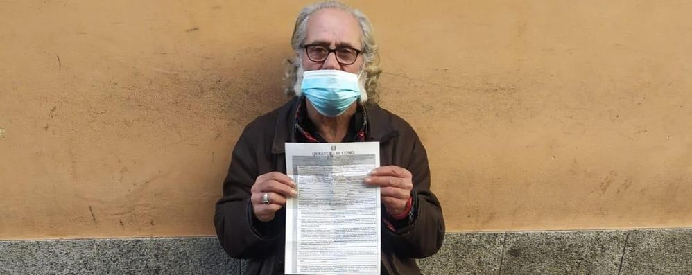 Senzatetto multato in città  Il questore: «Valuterò se annullare»