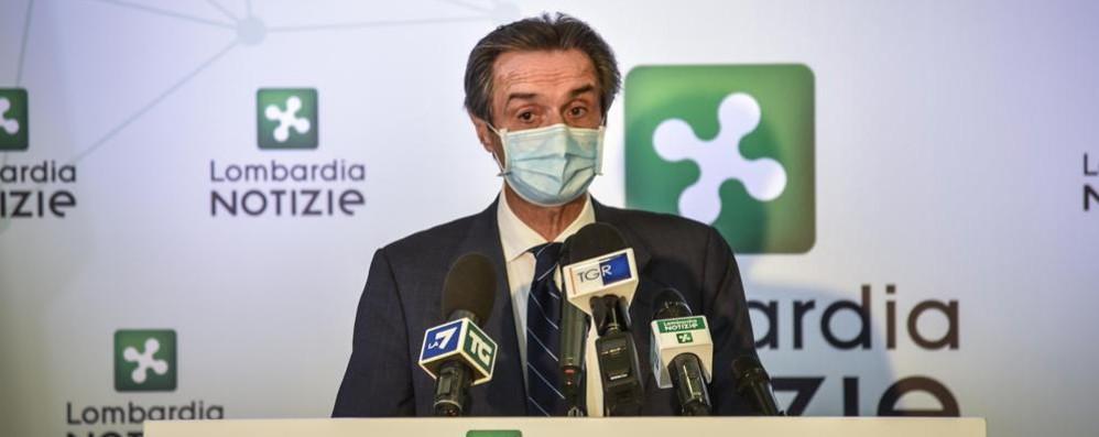 Fontana: «Lombardia zona gialla dall'11 dicembre»