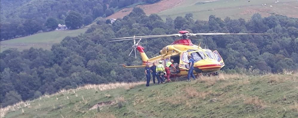 Eupilio, in difficoltà sul Cornizzolo  Soccorso con l'elicottero