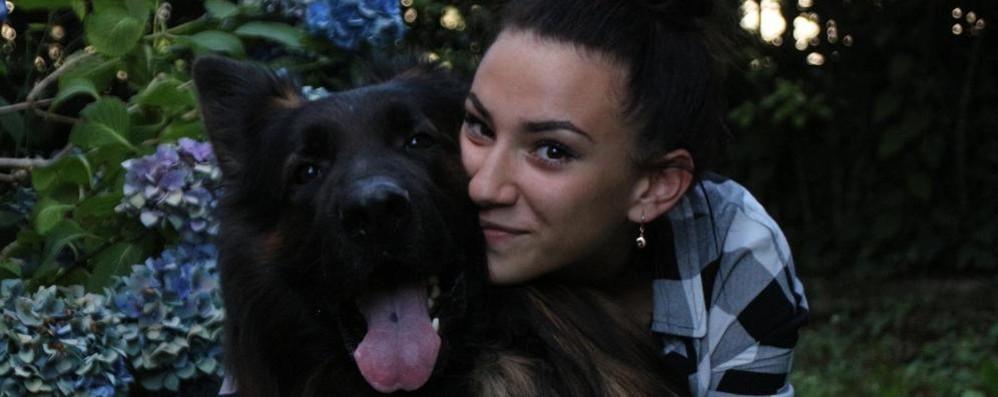Senna, la padrona sviene Il cane Eghò la soccorre