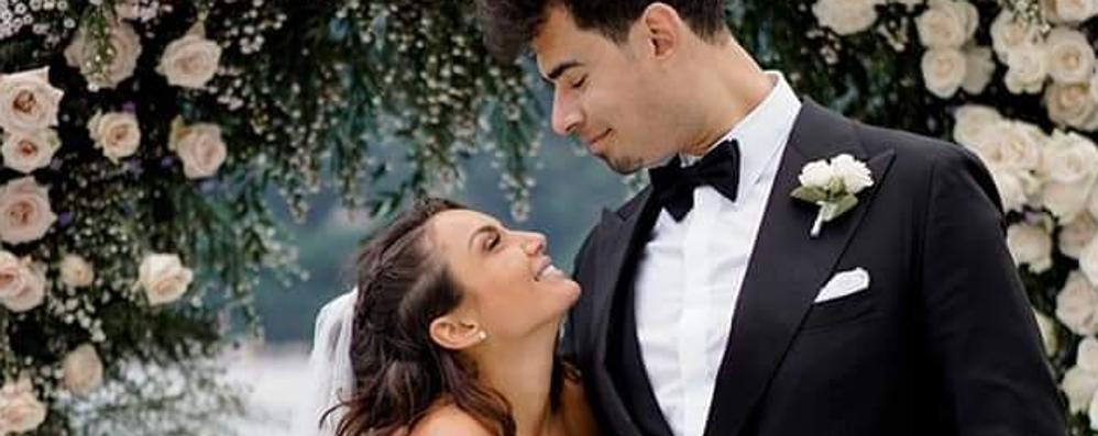 Tremezzina, le nozze  di Elettra Lamborghini  L'arrivo della sposa VIDEO