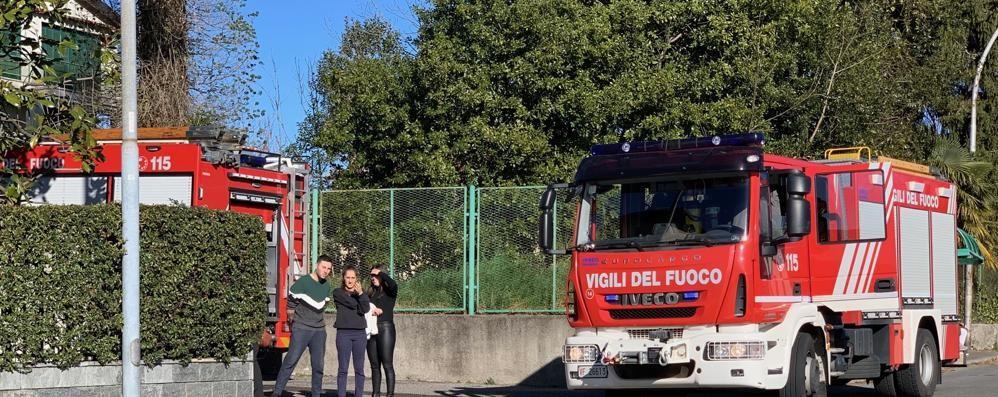 Incendio in una palazzina  Allarme ad Albavilla