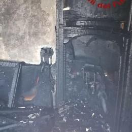 Olgiate, fuoco in casa  per un guasto elettrico