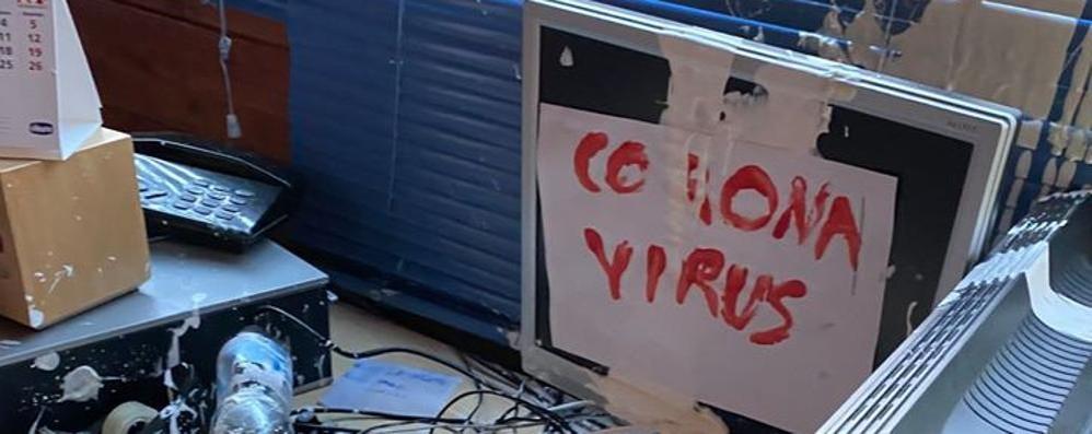 Como, la sede dell'Albate Calcio   devastata dai vandali di notte