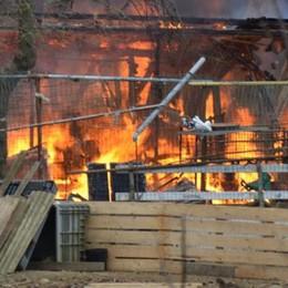 Mariano, stalla in fiamme  I pompieri salvano gli animali