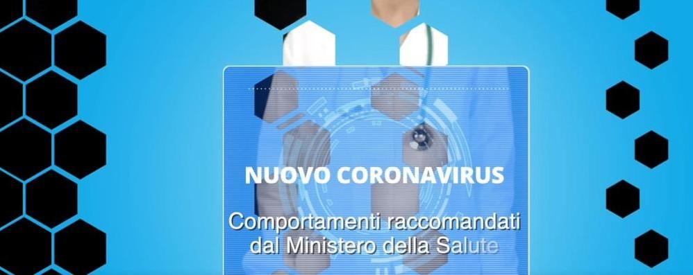 Coronavirus: il video   con i comportamenti  consigliati dal ministero