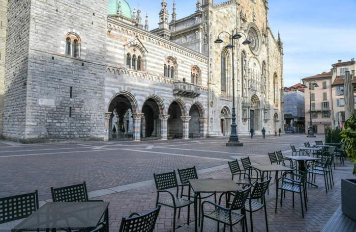 Piazza del Duomo in una foto scattata dal fotografo Andrea Butti alle 17 di martedì 10 marzo